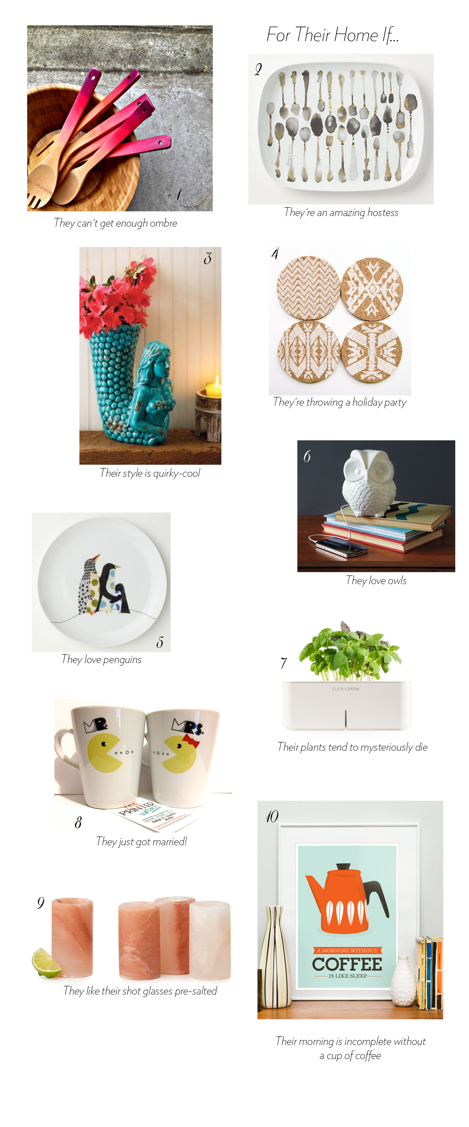 Gift guide quirky cool finds for the home ultimate for Quirky home goods