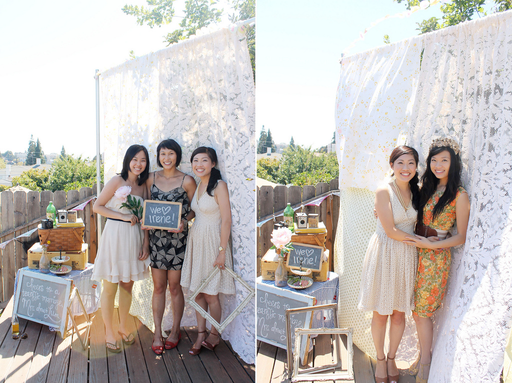 A Linens And Lace Bridal Shower