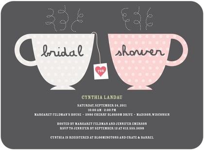 Tea cup bridal shower invite Ultimate Bridesmaid