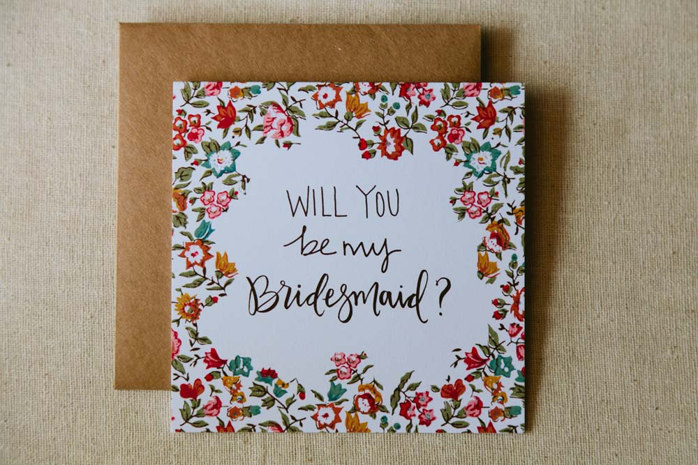 Will You Be My Bridesmaid Cards From Allie Ruth