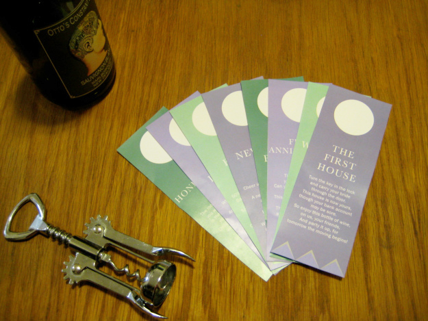 Wine gift tags for wedding