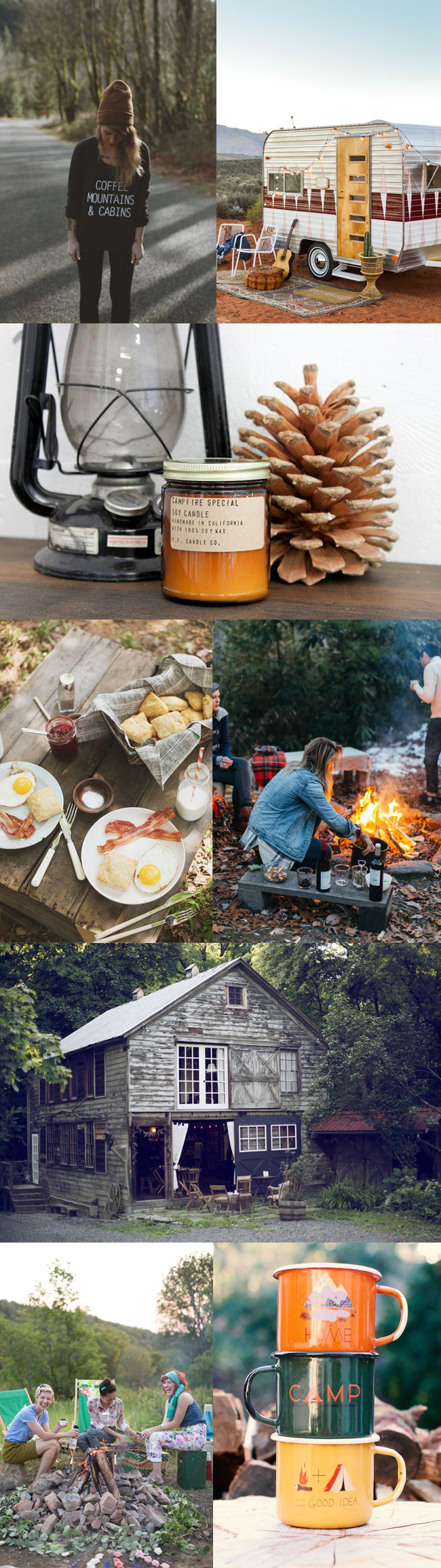 Camping bachelorette inspiration board ultimate bridesmaid for Cabin bachelor party