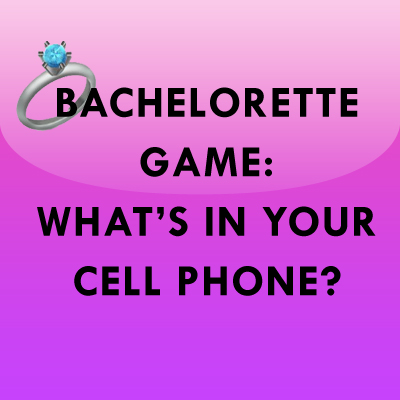 Bridal Shower Amp Bachelorette Game What S In Your Cell