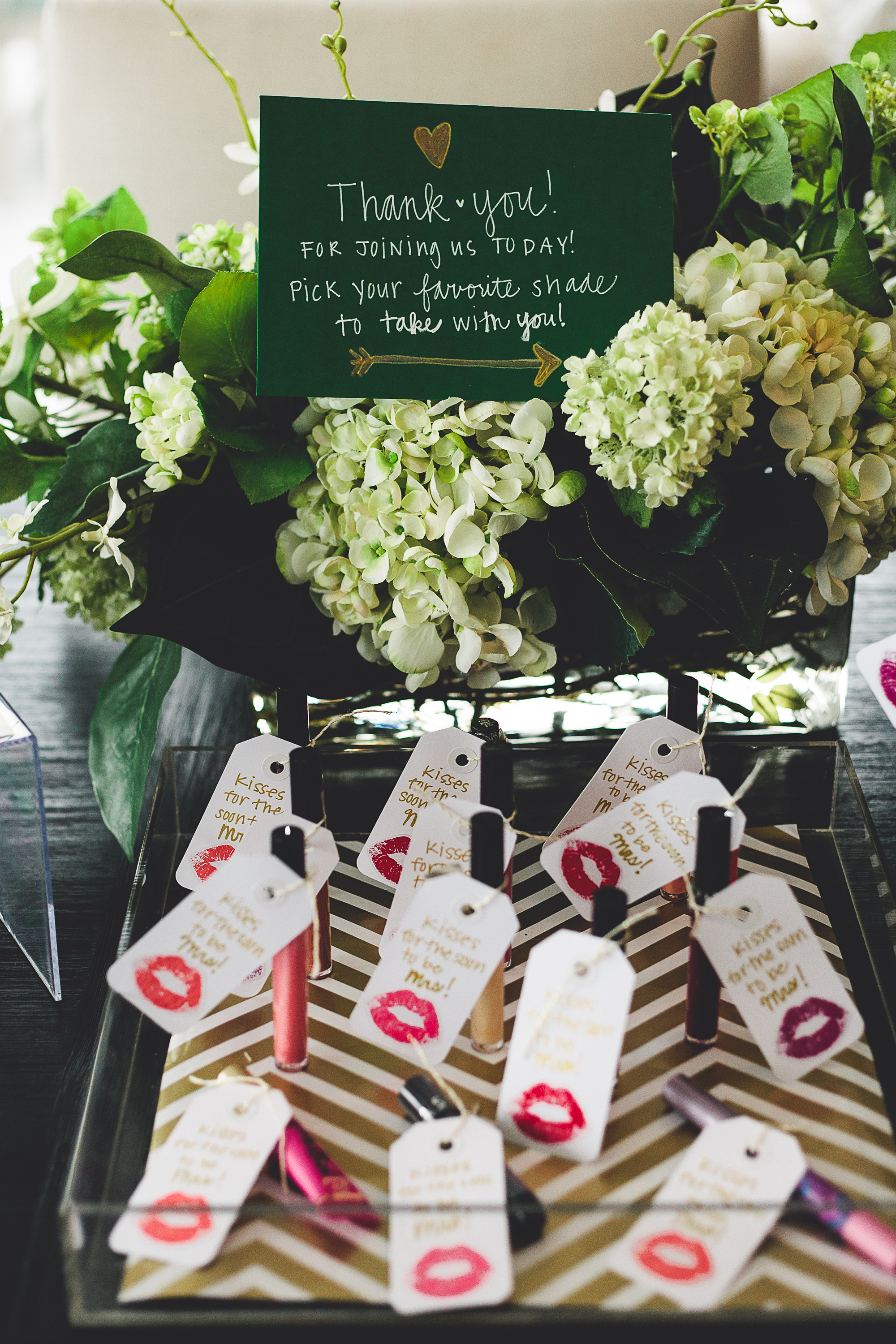 A Green & Gold Favorite Things Bridal Shower